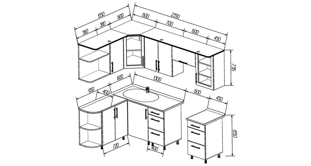 Схема сборки угловой кухни фото 737