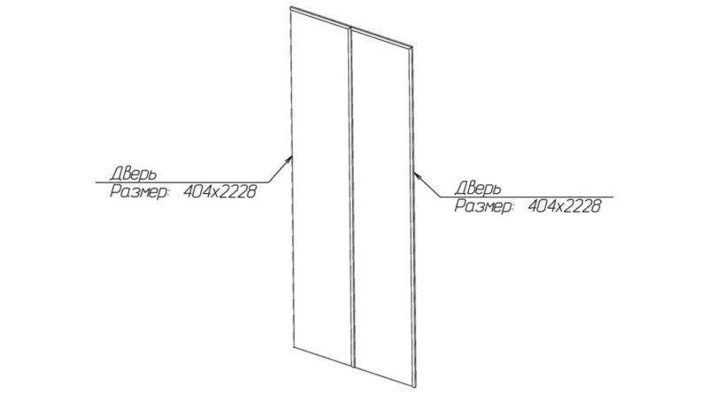 Схематичное расположение дверей