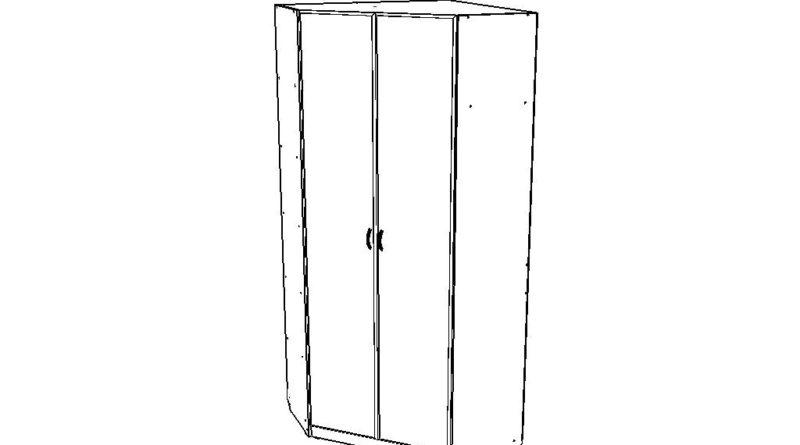 Схематичный вид углового шкафа