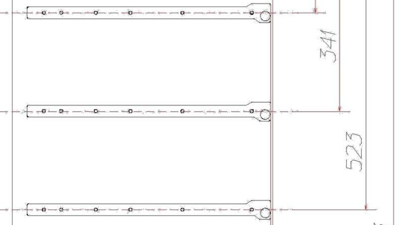 Схема крепления роликовых направляющих для ящиков