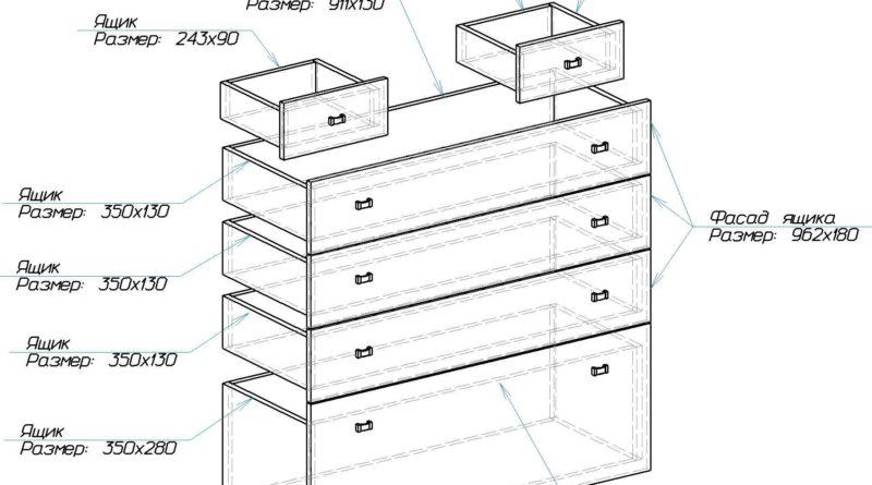 Схема сборки ящиков и их расположение