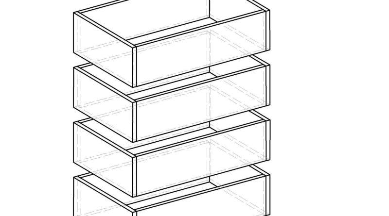 Схема сборки ящиков комода