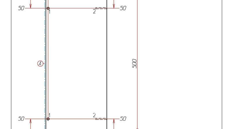 Чертеж и присадка подставки под стол