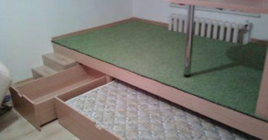 Готовая кровать-подиум в детскую комнату