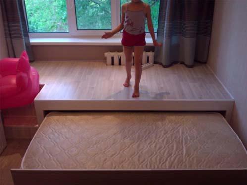 Готовая кровать-подиум для детской комнаты