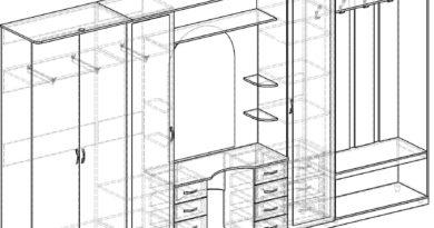 План-схема шкафа в прихожую