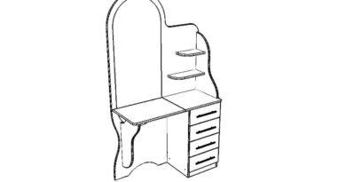 Схема-чертеж туалетного столика