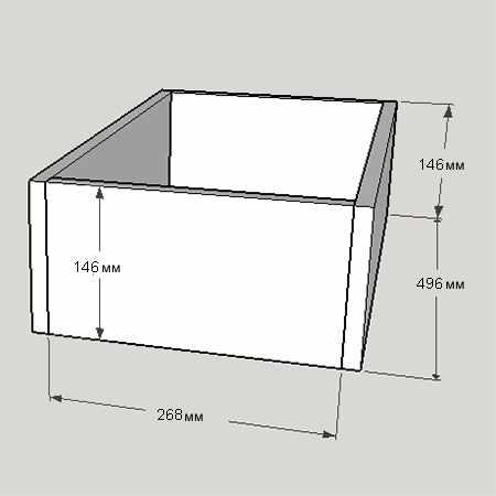 Ящик навесного столика для макияжа