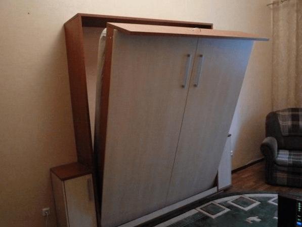 Готовая откидная кровать-шкаф