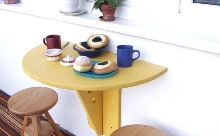 Готовый откидной столик для балкона своими руками из ДСП