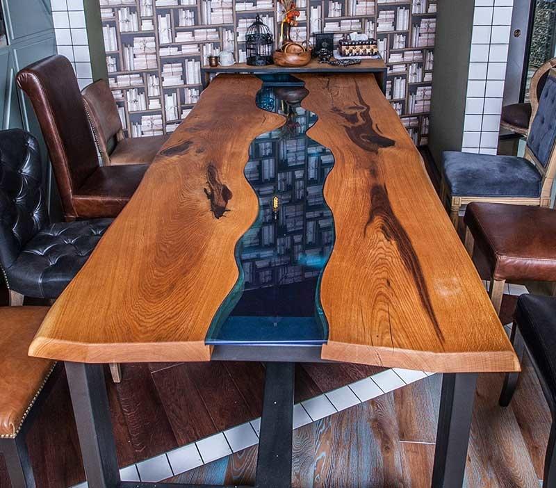 Готовый стол в стиле лофт из слэбов своими руками