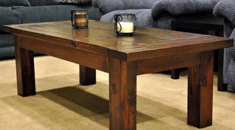 Деревянный стол из бруса1