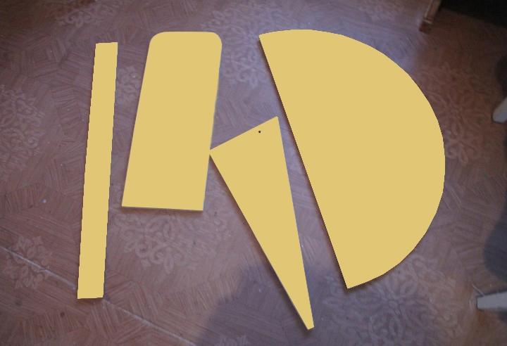 Детали откидного столика из ДСП для лоджии