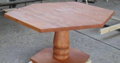 Фото шестигранного стола