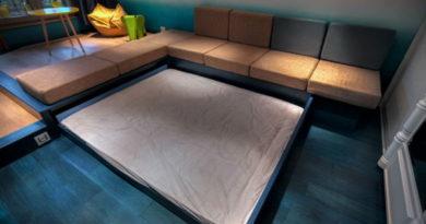 Идеи выдвижных двуспальных кроватей
