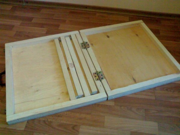 Установка мебельных петель для складывания столешниц