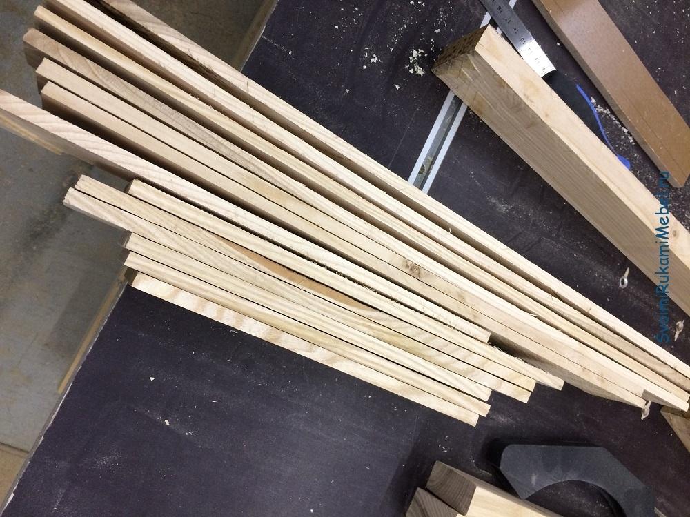 Заготовки из ясеня для лотка столовых приборов